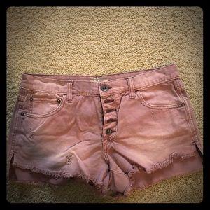 Super cute pink jeans shorts